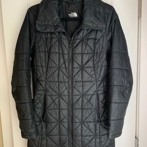 North Face Long Puff Coat Size M